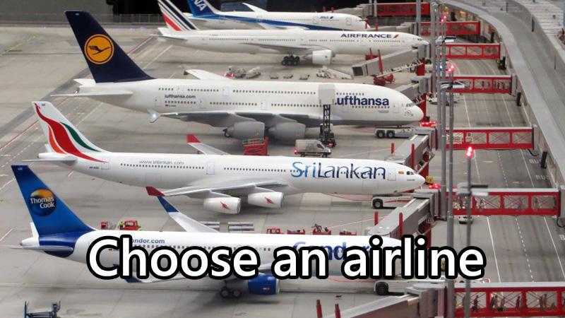 航空会社を選ぶ