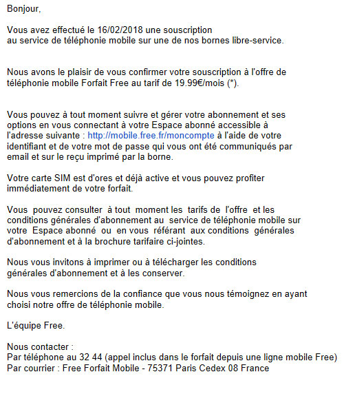free mobile paris