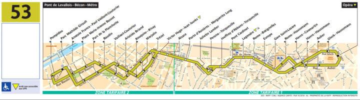 パリ バス 53番線