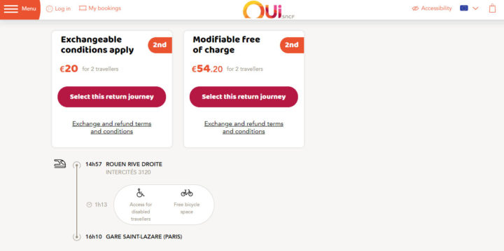 Oui SNCF 公式サイト