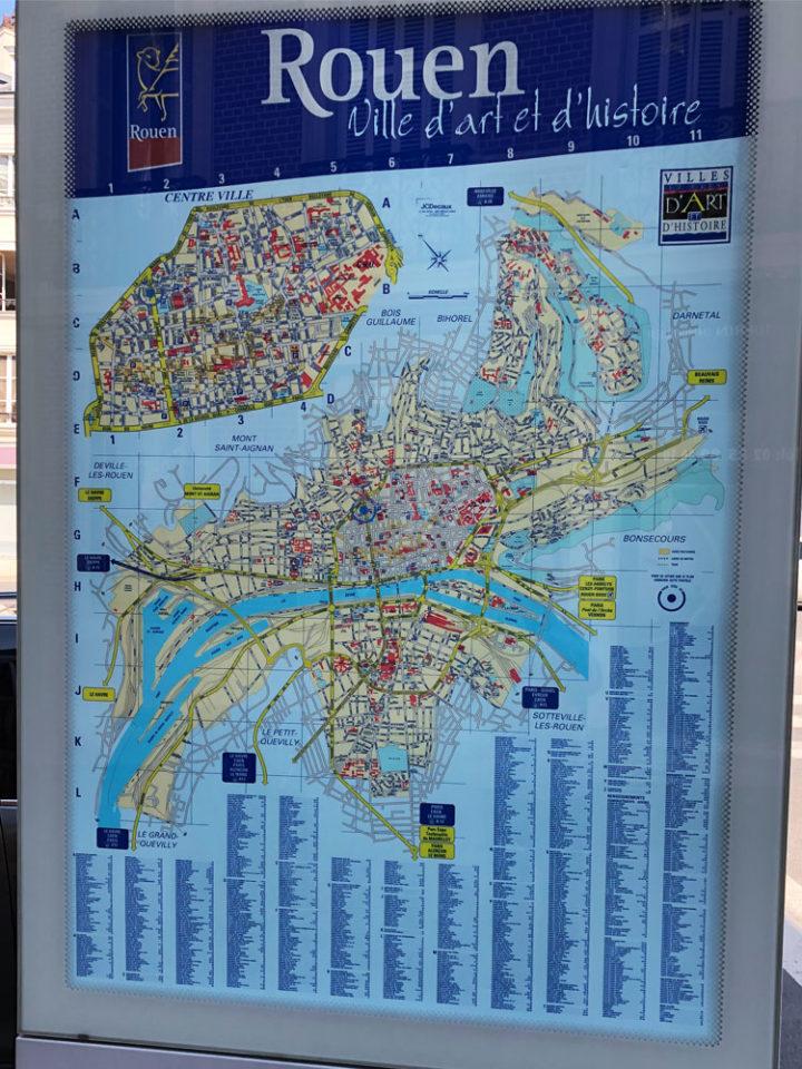 ルーアン地図
