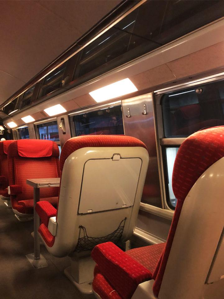 ルーアンから電車