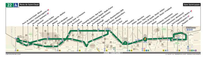 パリ バス 22番線