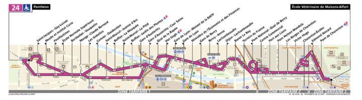 パリ バス 24番線