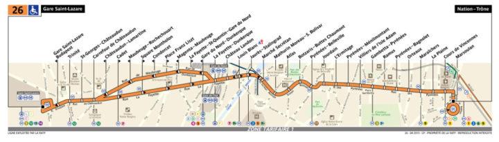 パリ バス 26番線