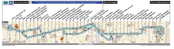 パリ バス 29番線