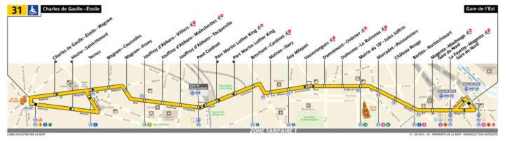 パリ バス 31番線