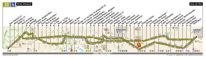 パリ バス32番線