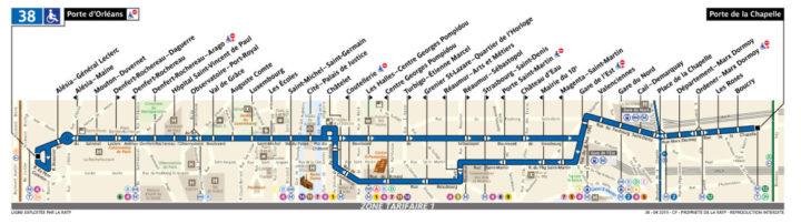 パリ バス 38番線