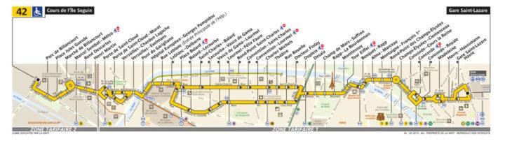 パリ バス 42番線