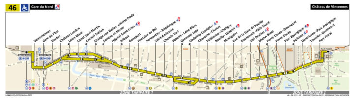 パリ バス 46番線