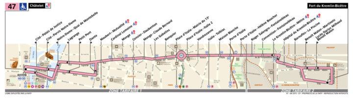 パリ バス 47番線