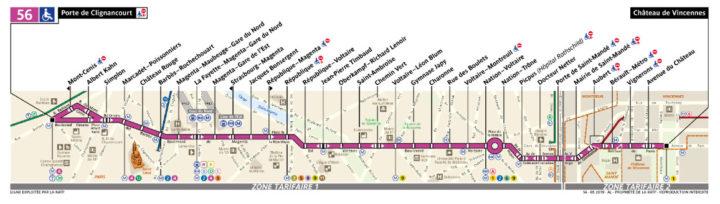 パリ バス 56番線