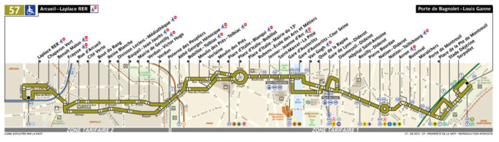 パリ バス 57番線