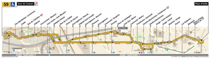 パリ バス 59番線