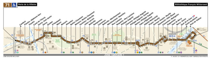 パリ バス 71番線