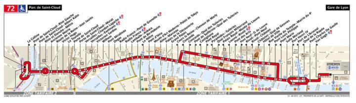 パリ バス 72番線