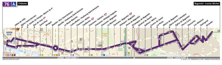 パリ バス 76番線