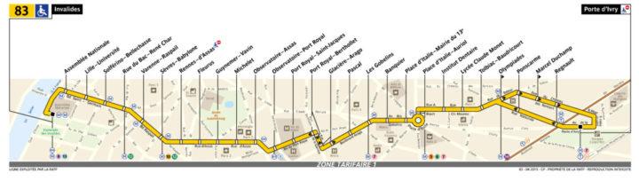 パリ バス 83番線