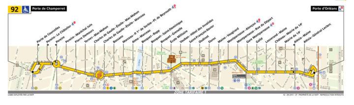 パリ バス 92番線