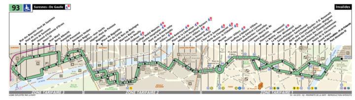 パリ バス 93番線