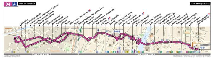 パリ バス 94番線