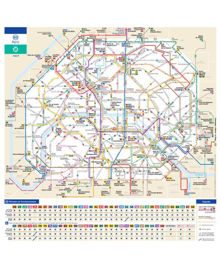 パリ バス 路線図 改正版