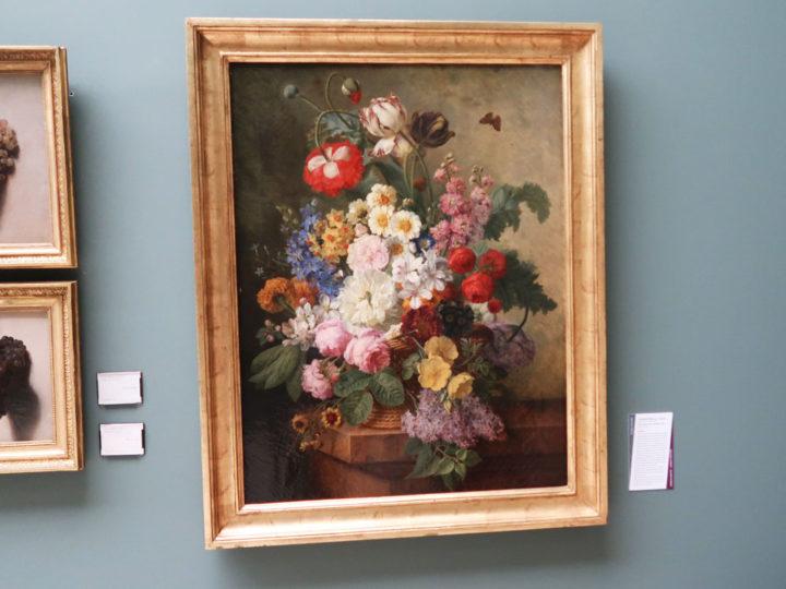 fleurs dans une corbeille