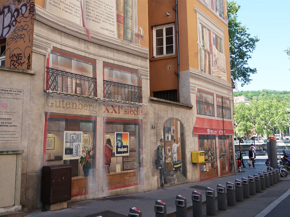 Fresque La bibliothèque de la cité