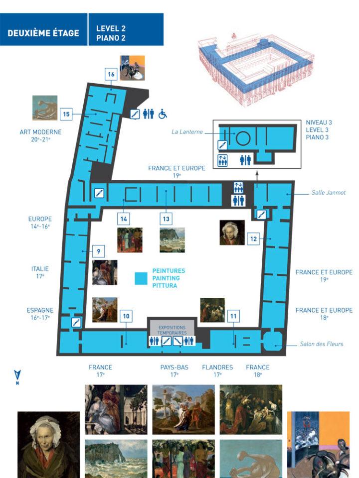 リヨン美術館 館内マップ
