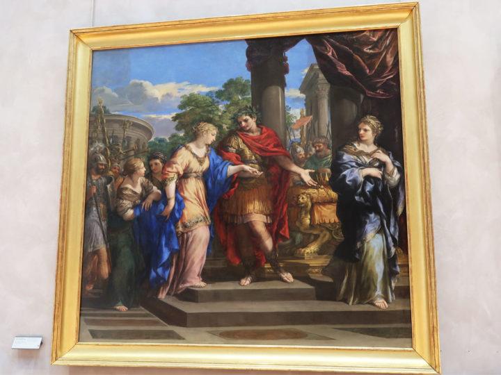 César remet Cléopâtre sur le trône d'Egypte