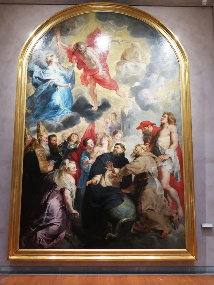 Saint Dominique et Saint François préservant le monde de la colère du Christ
