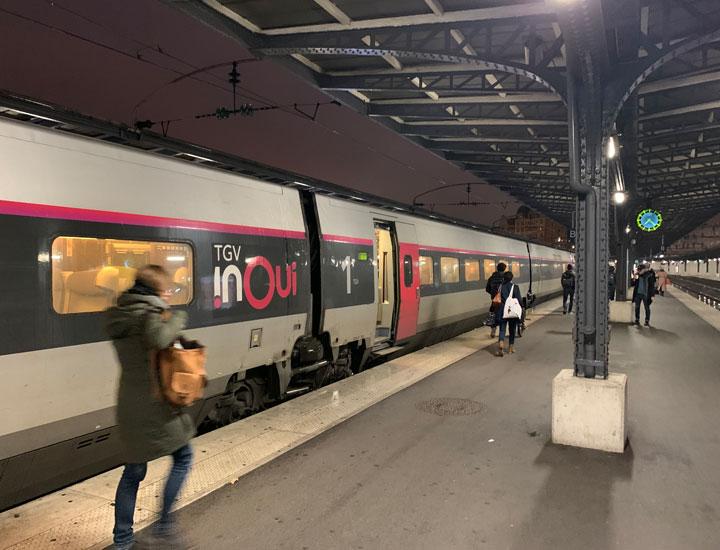 TGV パリ東駅