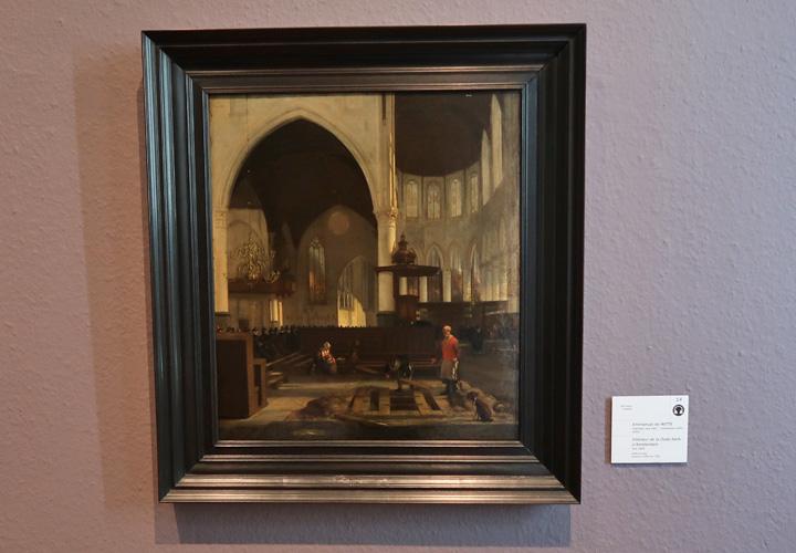 Intérieur de la Oude Kerk d'Amsterdam
