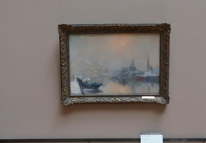 La Seine et l'île Lacroix à Rouen en hiver (1893)