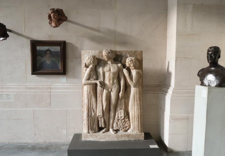 Trois Muses se plaignant à Apollon de la barbarie des hommes