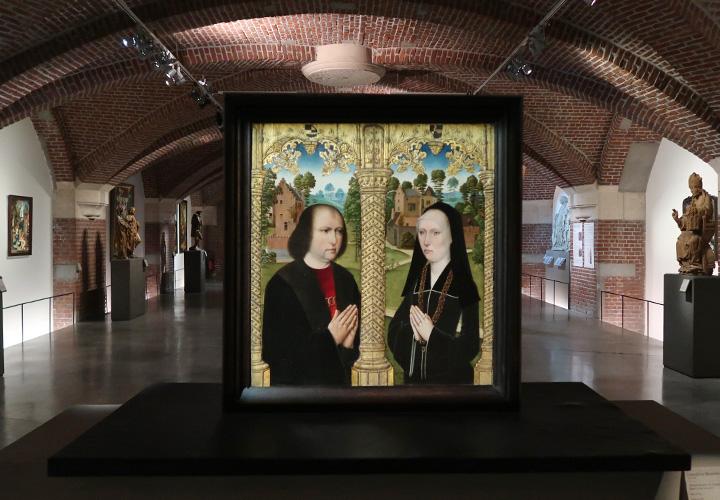 Portraits de Barbe de Croesinck et Louis Quarre et en donateurs