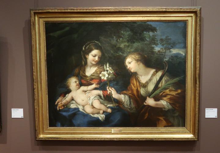 La Vierge, l'enfant Jésus et sainte Martine