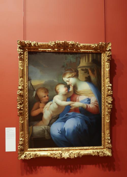 La Vierge, l'enfant Jésus et Saint Jean-Baptiste