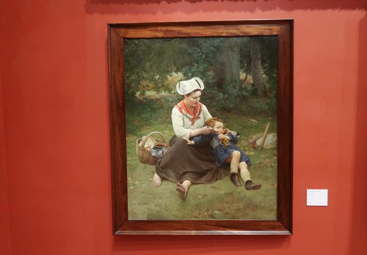 L'Heure du goûter dit aussi Bretonne racontant une histoire à son enfant