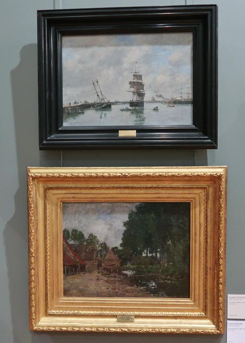 Trouville, les jetées marée haute (1885)