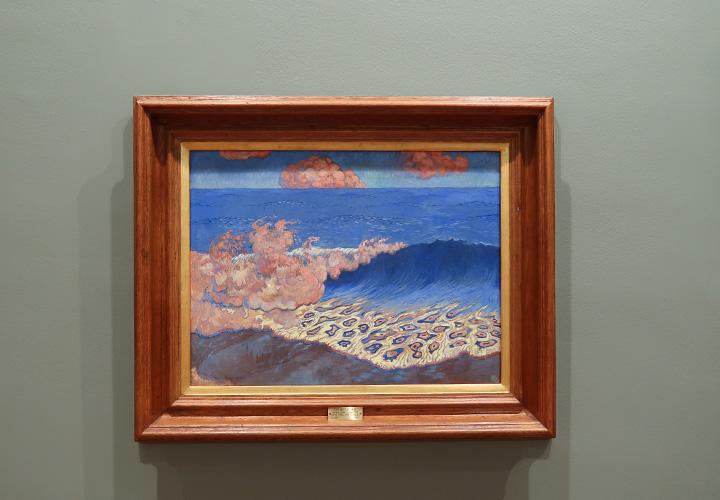 Marine bleue, Effet de vague (1893)