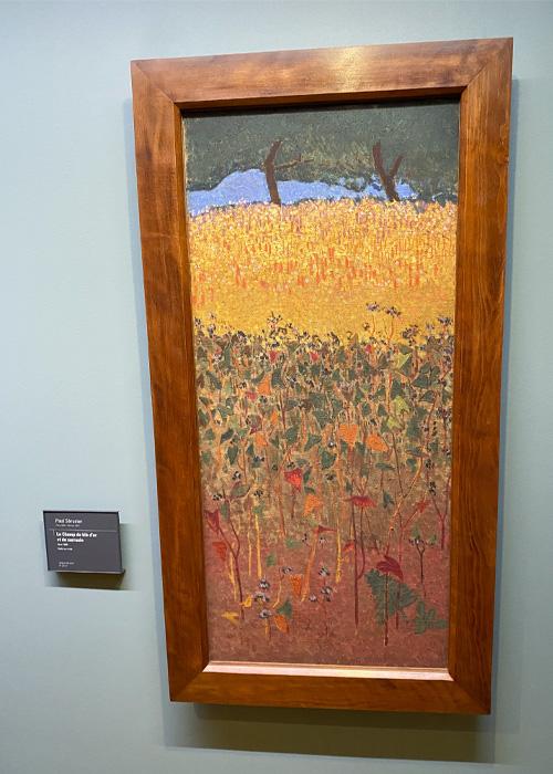 Le champ de blé d'or et de sarrasin