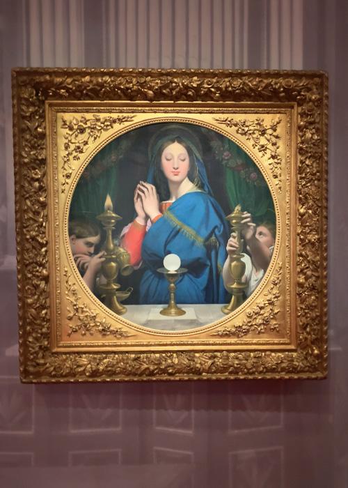 La Vierge adorant l'hostie