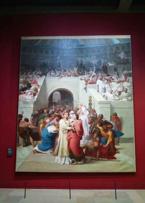 Martyrs chrétiens entrant à l'amphithéâtre