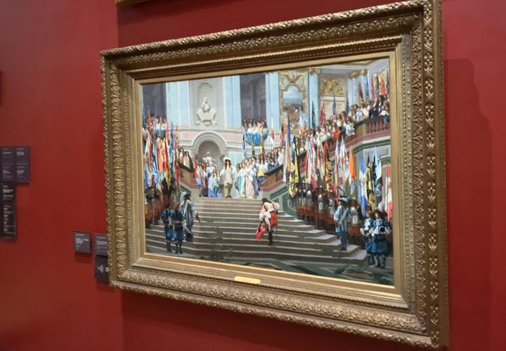 Réception de Condé à Versailles