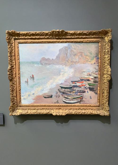 Etretat : la plage et la porte d'Amont