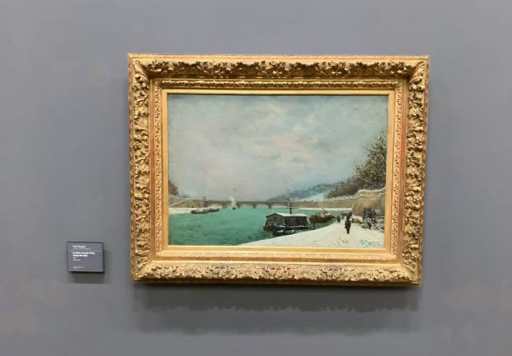 La Seine au pont d'Iéna. Temps de neige