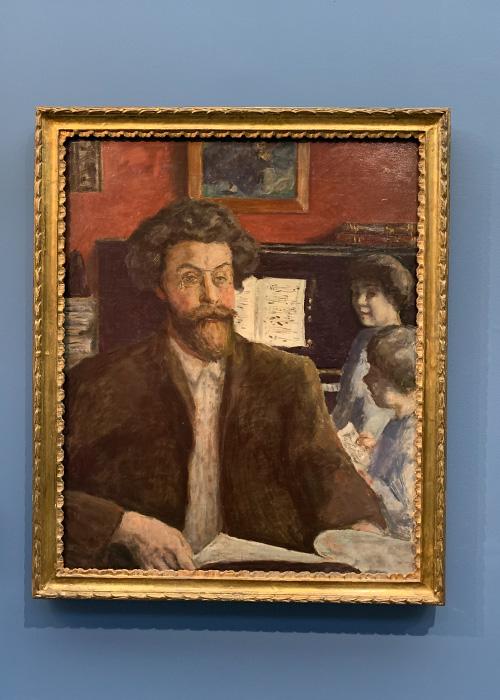 Le compositeur Claude Terrasse et ses deux fils