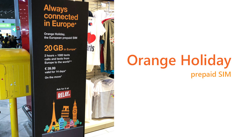 Orange holiday sim card France